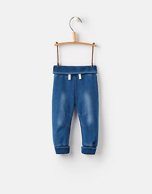 Joules Hugo Jersey Denim Jogger in DENIM