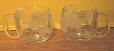 You'll Have the World at Your Fingertips w/ Nestle Globe Mug! Pair, Glass