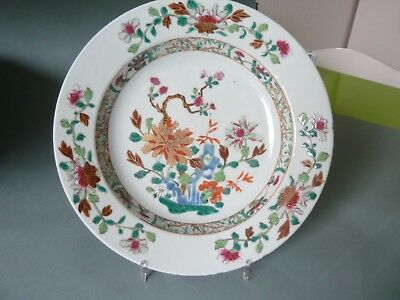 nice chinese porcelain deep plate famille rose 18th c Ching Dynastie china