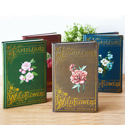 """Wild Flowers"" 1pc Hard Cover Diary Vintage Notebook Journal Stationery Gift"