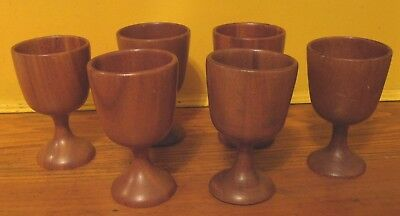 Woodn't It Be Great to Own Unique Set of Goblets? 6 Wood Cups