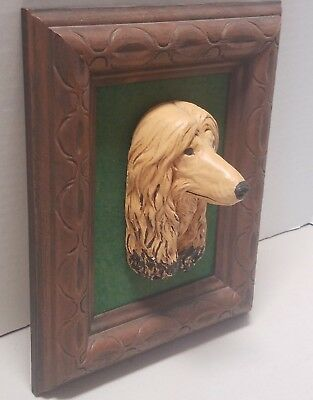 Afghan Hound Dog 3D-Picture Frame with Green Felt Backing