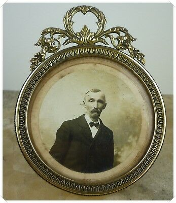 Antique French bronze Picture Photo Frame Empire style