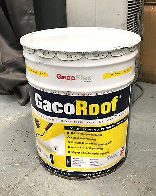Gaco GacoRoof 100% Silicone Roofing Material - 5 Gallon Tote