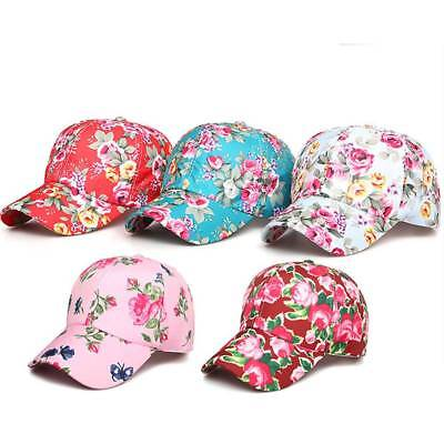 5026edaa Men Women Snapback Floral Baseball Hat Hip Hop Cap Casual Sports Outdoor  Sunhat