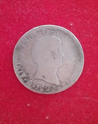 1823 Mo JM Mexico City 2 Reales