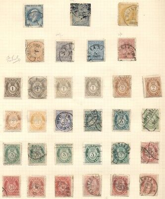 Norway Small Collection Of Earlies On Pages Mostly Used, F/vf Scott $997.00