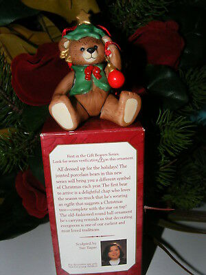 Hallmark Gift Bearers Teddy Bear Ornament 1st In Series 1999 In Box w Price Tab