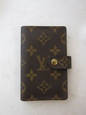LOUIS VUITTON Brown Monogram Gold Snap Small Address Book with Box