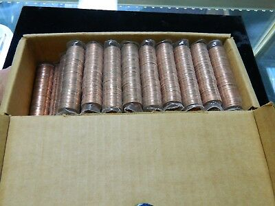 1979-P Lincoln Cents Unc. $25 Dollar Face 50 Rolls!! Original Brinks Box!!
