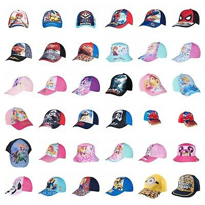 Boys Girls Kids Children Super Mario Spider-man Baseball Cap Bush Hat 2-9 Years
