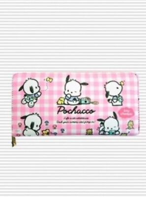 LICENSED! SANRIO Pochacco Dog Pink Long Leather Wallet Coin Purse Japan Toreba