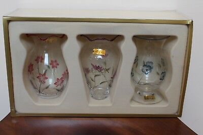 Lenox Floral Spirit Handcut & Handpainted Vases ~ Set Of 3 ~ New In Box