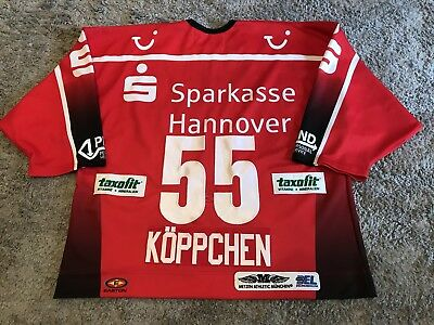 Hannover Scorpions Game Worn Jersey Patrick Köppchen * DEG * Nürnberg Ice Tigers