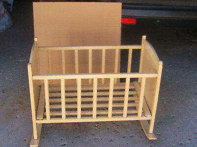 Vintage Baby Cradle, Wood Paint Decal, Sweet, Solid, Antique, Very Noce Shape,