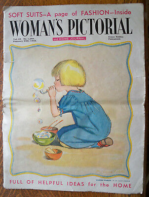 1940s Womans Pictorial & Home Journal Magazine Feb 24th 1945 Wartime