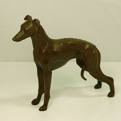 Beautiful Cold Cast Bronze Whippet Dog Statue Signed By Artist T. Acevedo