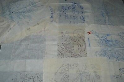 Lot of 21 Vintage Stamped Linens for Punch Crewel Embroidery Needlepoint...