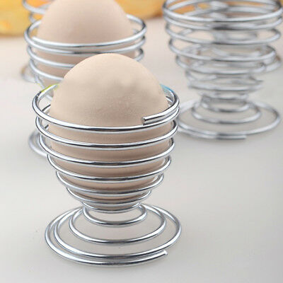1pc Stainless Steel Spring Wire Tray Boiled Egg Holder Lovely Stand Storage