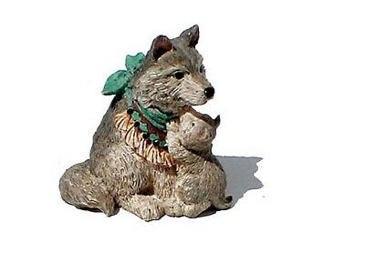"Marked ©1997 Enesco, Karen Hahn, ""Wise Wolf"" Figurine"