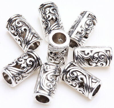 Free Ship lots Tibetan Silver Charms Spacer Beads Jewelry Findings 6 mm #89