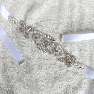 Luxury Bride Wedding Dress Accessories Rhinestone Girdle Decoration Belts