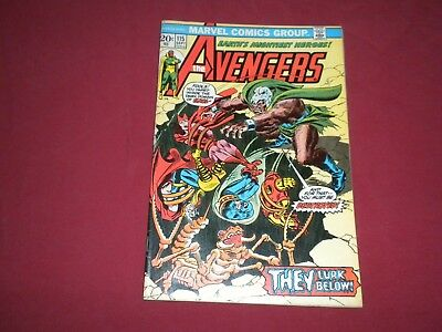 Avengers #115 marvel 1973 bronze age 3.5/4.0 comic! Lots of Avengers up! WOW!!!!