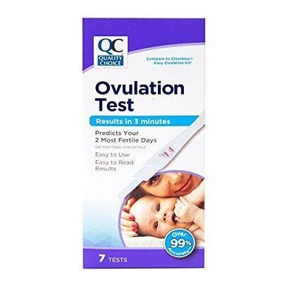 Quality Choice Ovulation Test Results in 3 Minutes 7 Count Each