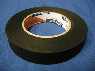 "NEW SHURTAPE P-743 BLACK PHOTOGRAPHIC MASKING TAPE 1"" x 60YDS MADE IN USA"