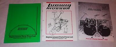 Ludwig drums price list 1987, 1988, 1988 three pieces