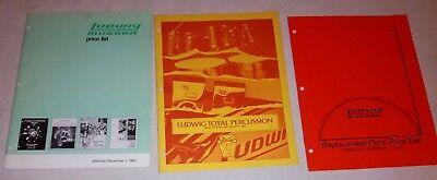 Ludwig drums price list 1982, 1984, 1985 three pieces