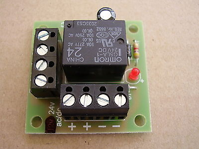 24v ac/dc Mini Handy little Relay board, ideal for security / fire alarm systems