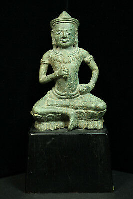 Rare Ancient Khmer Bronze Statue of Vajrasattva 12th cent. Bayon Style
