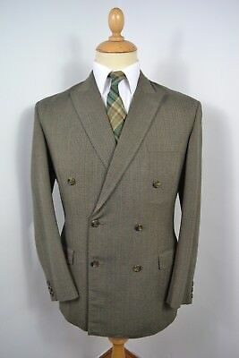VINTAGE 1960s VIC FRIEND GREEN 2 PIECE WOOL DOUBLE BREASTED SUIT SMALL 38 REG