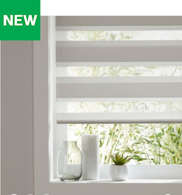 Colours Elin Day & Night Corded Linen Roller Window Blinds Multiple Sizes