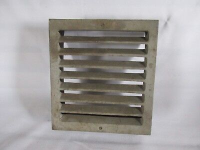 Vintage Metal Square Heat Vent, Salvaged Steampunk