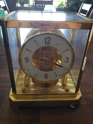 Vintage Jaeger Le Coultre 1970's  Atmos Clock 528-8 Serial # 474692-Running