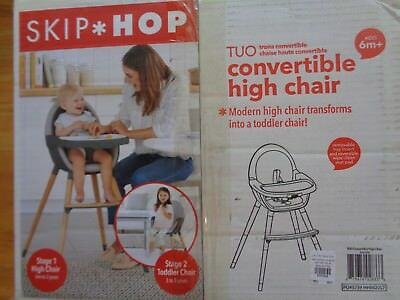 Pottery Barn KIDS SKIP HOP TUO CONVERTIBLE HIGH CHAIR-NEW IN ORIGINAL BOX