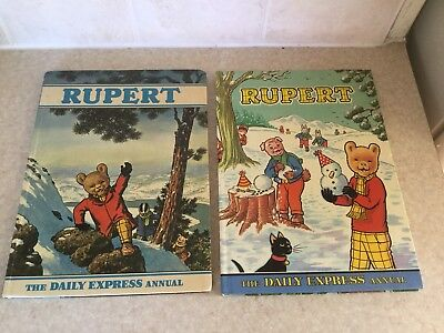 Vintage Rupert Daily Express Annuals (1970 & 1974) - Excellent Condition
