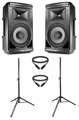 JBL EON610 powered speakers