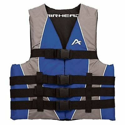 Airhead Adult Dual Size Nylon PFD, Large/X-Large, Blue