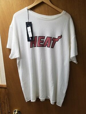 The Elder Statesman X NBA Miami Heat 70% Cashmere 30% Silk XL TShirt New