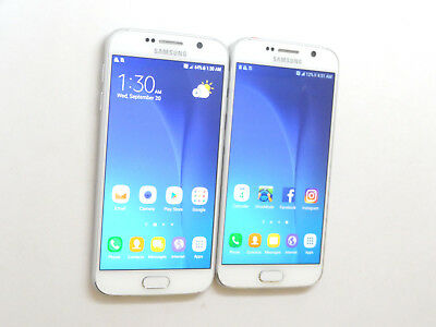 Lot of 2 Samsung Galaxy S6 SM-G920A AT&T Smartphones AS-IS 1 32GB & 1 128GB GSM