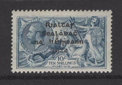 Ireland 1922 10 Shillings 21.5x14mm Overprint - OG MNH - SC# 14  Cats $450.00