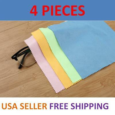 lot of 4 Microfiber Cleaning Cloth Glasses Camera Lens LCD Screen Cellphone