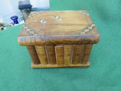 Small Sorrento Ware Traditional Inlaid Wooden Puzzle Box