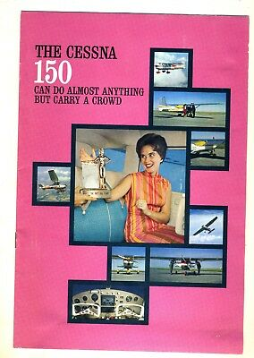 Cessna 150 Factory Brochure Aircraft Aviation Airplane Advertising Vintage Plane