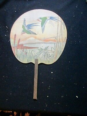 Antique Birds Asian Effect Hand Fan With Elvin Starling Undertaking Baynard Iowa