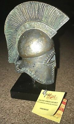Bronze Anicent Griffin Helmet Marble Base Artifact Aged Grifon VERY RARE
