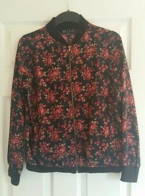 REDUCED!!Miso floral lightweight bomber jacket. Size 10